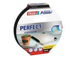 Tesa - extra Power Perfect Gewebeband, 25 m:19 mm, schwarz