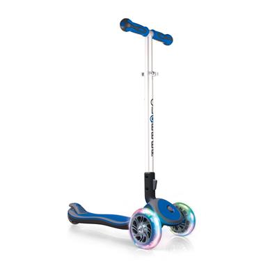 Authentic Sports GLOBBER My Free Fold Up SL / ELITE SL, blau-grau, Faltbar mit Leuchtrollen