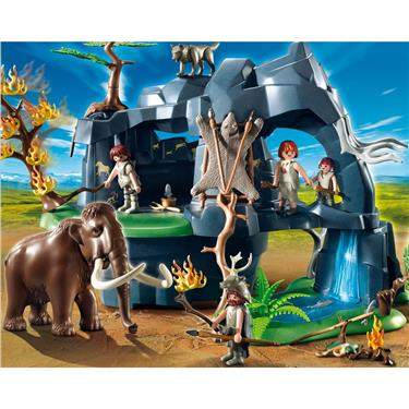 playmobil gro e steinzeith hle mit mammut duo. Black Bedroom Furniture Sets. Home Design Ideas