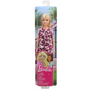 Barbie Chic Puppe blond) mit Herzprint-Kleid