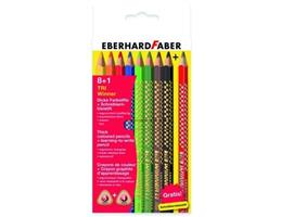 Eberhard Faber 518409 - Buntstift Dreikantfarbstift TRI Winner im  8+1er Etui