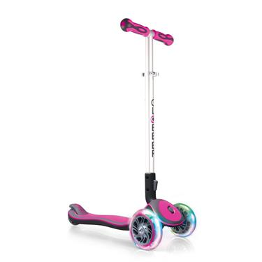 Authentic Sports GLOBBER My Free Fold Up SL / ELITE SL, pink-grau, Faltbar mit Leuchtrollen