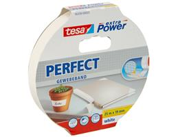 Tesa - tesa extra Power Perfect Gewebeband, weiß