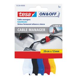 Tesa 55236 - On & Off Cable Manager, bunt