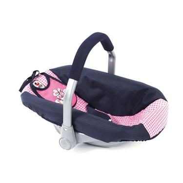 Bayer Chic Puppen-Autositz, Pink Checker