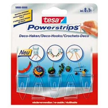 Tesa Powerstrips Transparent Deco Haken 5 Haken8 Strips Duo Shopde