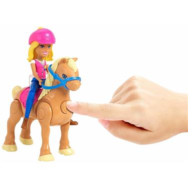 Barbie On The Go Pony Rennen Spielset
