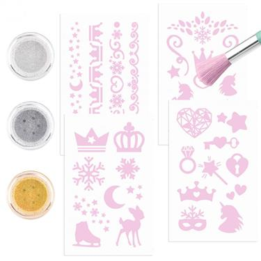 Depesche Fantasy Model Glitzer Tattoo Set Icefriends