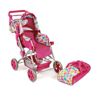 Bayer Chic Kombi-Puppenwagen Road Star pinky Bubbles
