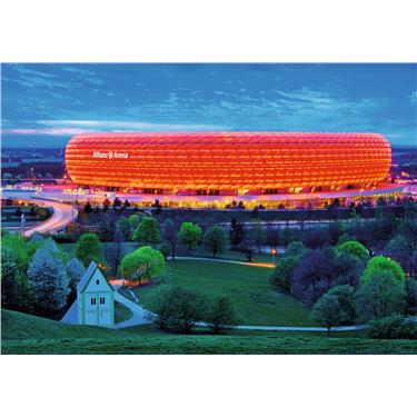 Ravensburger Puzzle Allianz Arena Color Star Line, 1200 Teile