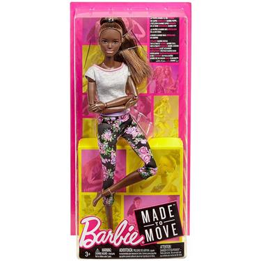 Barbie Made to Move Puppe Afro