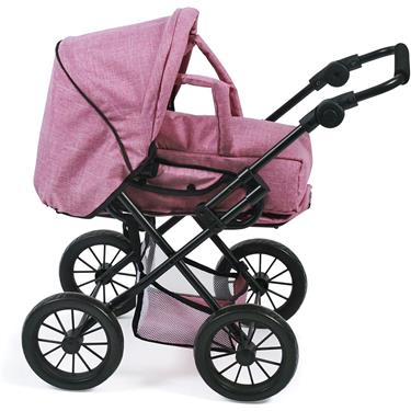 Bayer Chic Kombi-Puppenwagen LENI, Jeans Pink