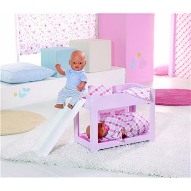 zapf creation 809563 baby born hochbett mit rutsche duo. Black Bedroom Furniture Sets. Home Design Ideas