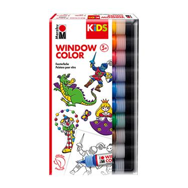 Marabu KiDS Window Color Sortierung 10 x 25 ml