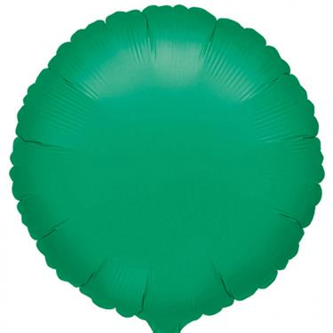 amscan Folienballon Metallic Green rund, 43 cm