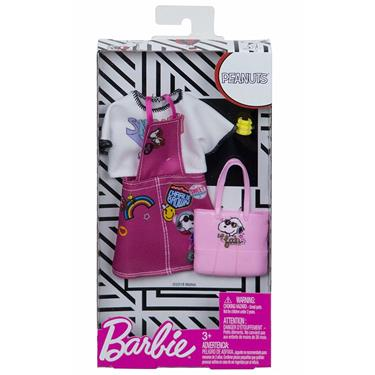 Barbie Fashion Set Peanuts, pinkes Kleid