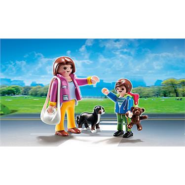 playmobil duo pack mama mit schulkind duo. Black Bedroom Furniture Sets. Home Design Ideas