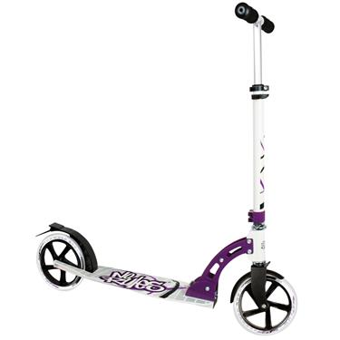 Authentic Sports Aluminium Scooter No Rules 205 mm schwarz/weiß/lila