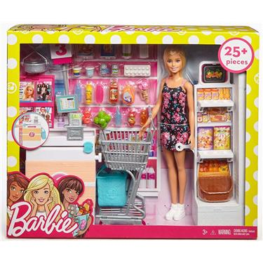 Barbie Supermarkt mit Puppe