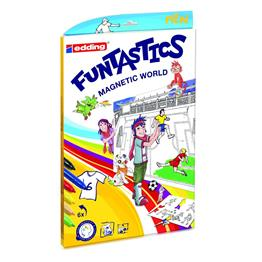 Edding 51157 - Bastelset FUNTASTICS Magnetic World Set Fussball