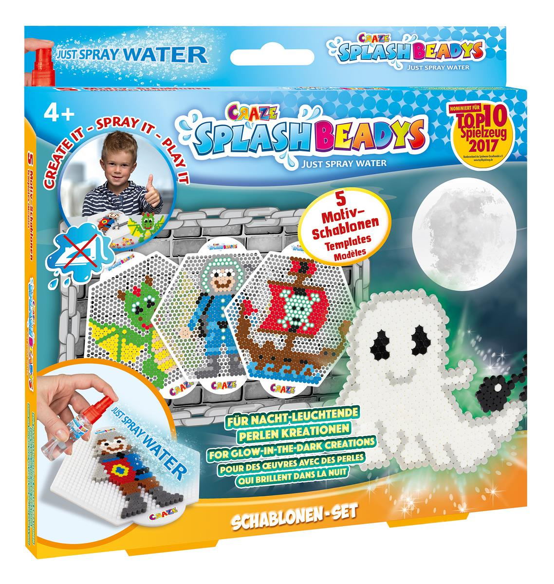 Craze Splash Beadys Schablonen Set Boys, 5er Set