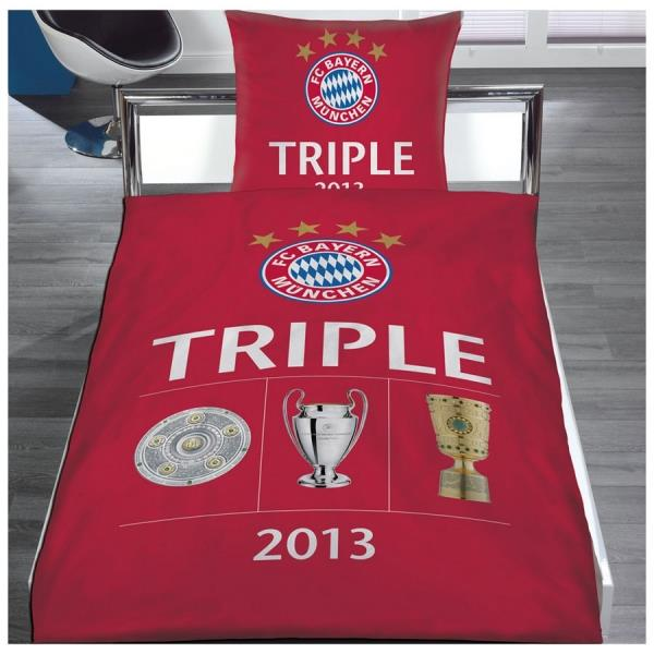 fc bayern bettw sche triple 2013 duo. Black Bedroom Furniture Sets. Home Design Ideas
