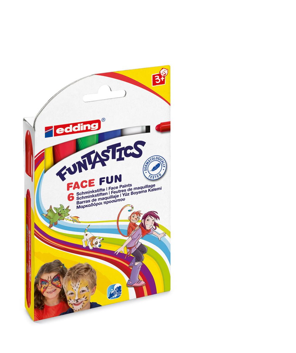 Edding Schminkstifte Funtastics Face Fun 6er Set, 2-6mm