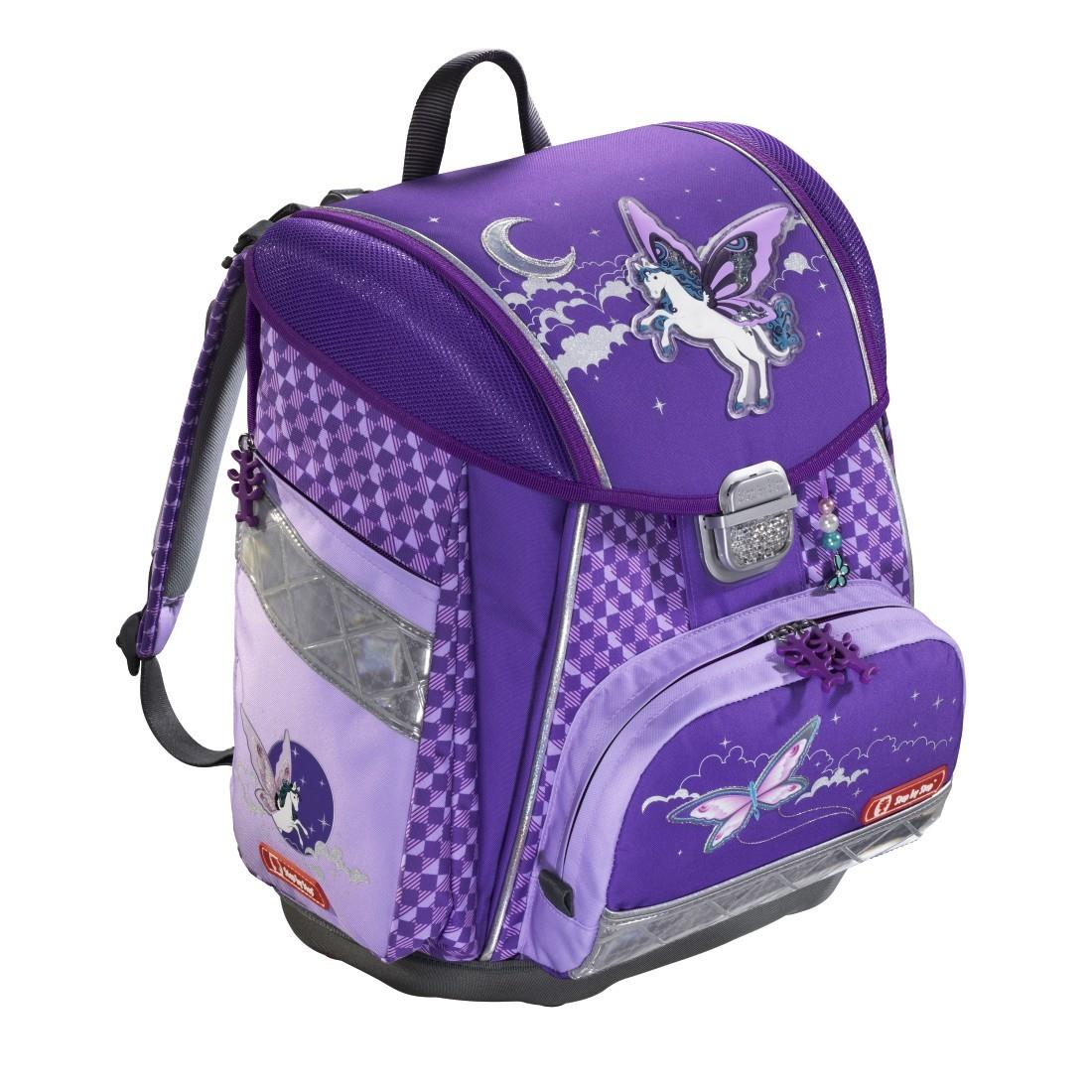Step by Step Schulranzenset TOUCH Flash Pegasus Purple 5-teilig