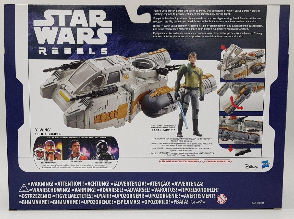 Hasbro Star Wars E7 Class I Deluxe Fahrzeug, Y-Wing Scout Bomber