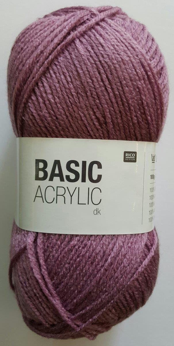 Rico Wolle Basic Acrylic dk Farbe 023, mauve