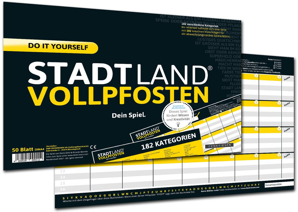 Denkriesen Stadt, Land, Vollpfosten - Do it yourself