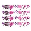amscan Konfetti Zahl 50 Happy Birthday Pink