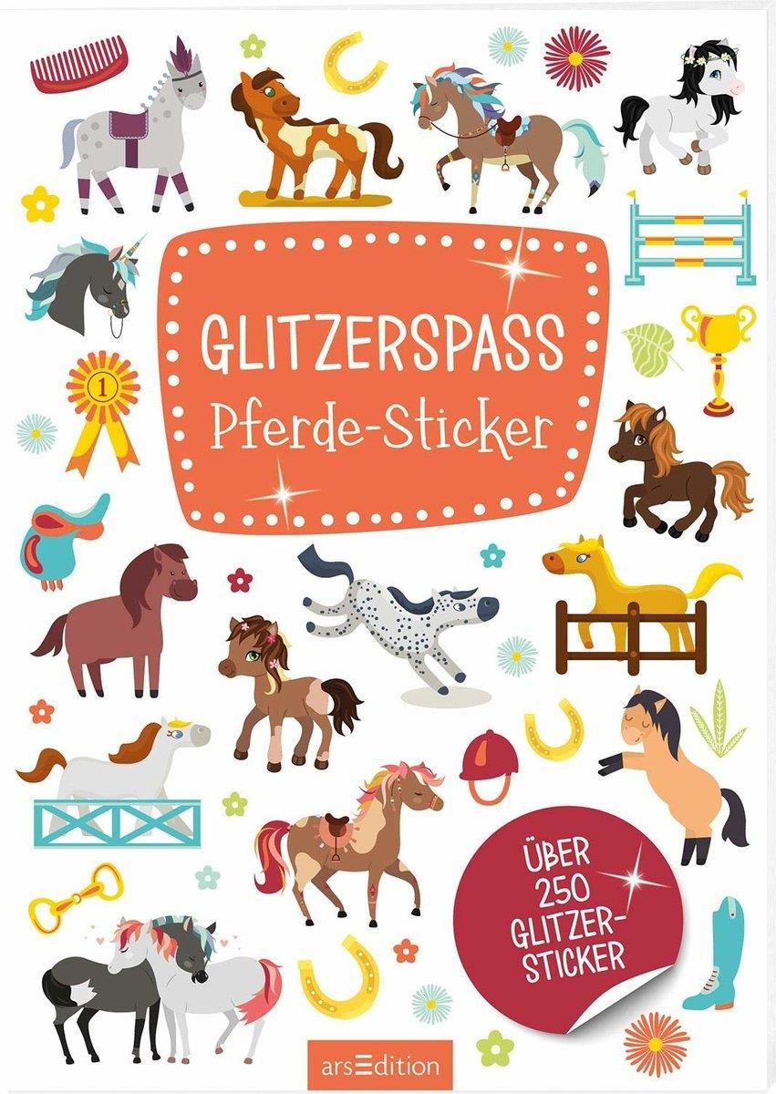 ars Edition Stickerheft Glitzerspaß Pferde Sticker