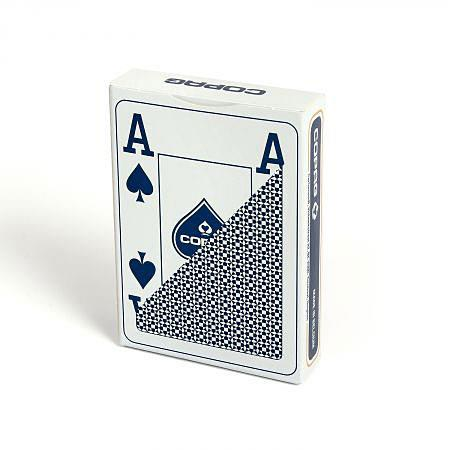 ASS Altenburger Poker Jumbo Index blau, 100% Plastik, 4 Corner