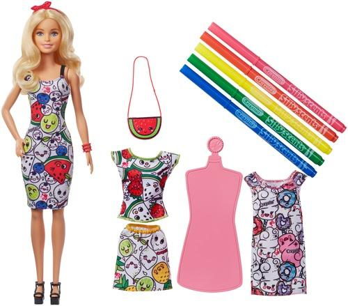 Barbie loves Crayola Color-In Scented Fashions Puppe