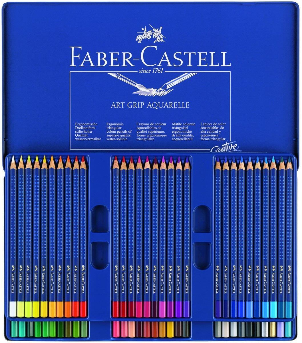 faber castell 114260 aquarellstift art grip aquarelle 60er etui duo. Black Bedroom Furniture Sets. Home Design Ideas