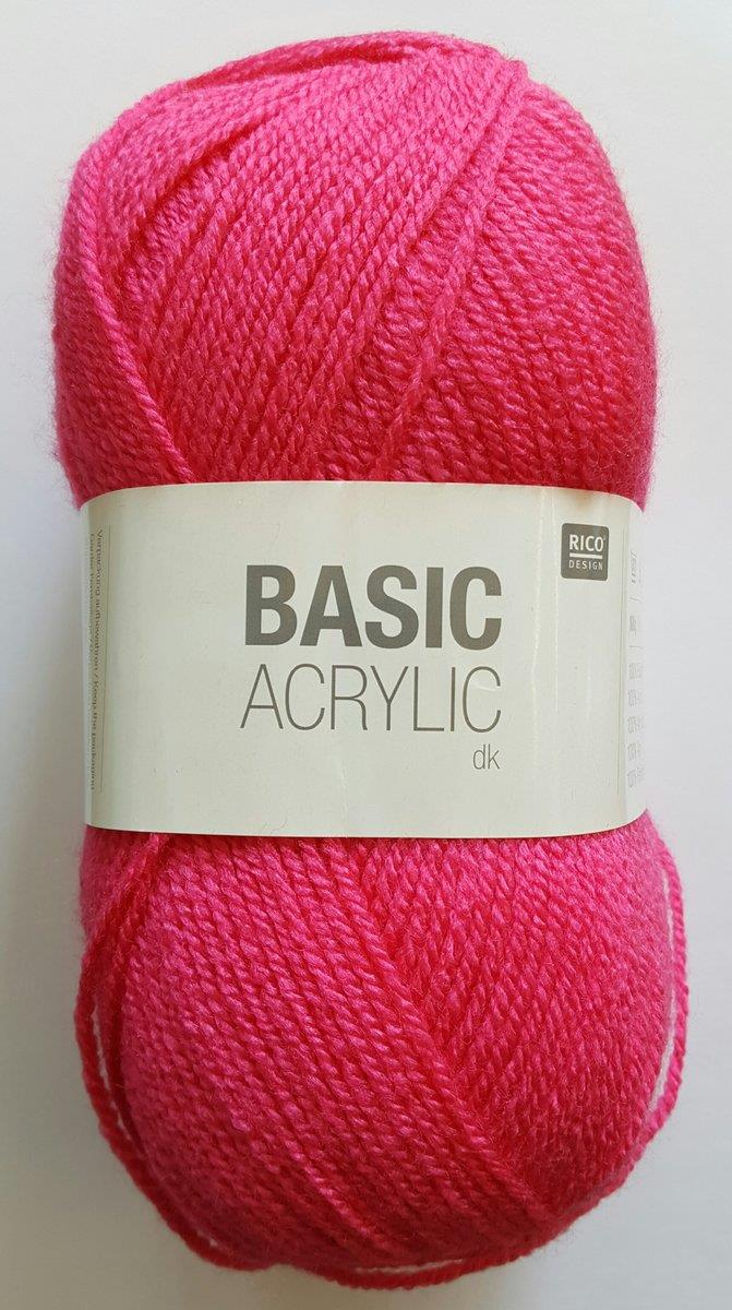 Rico Wolle Basic Acrylic dk Farbe 005, pink (fuchsia)