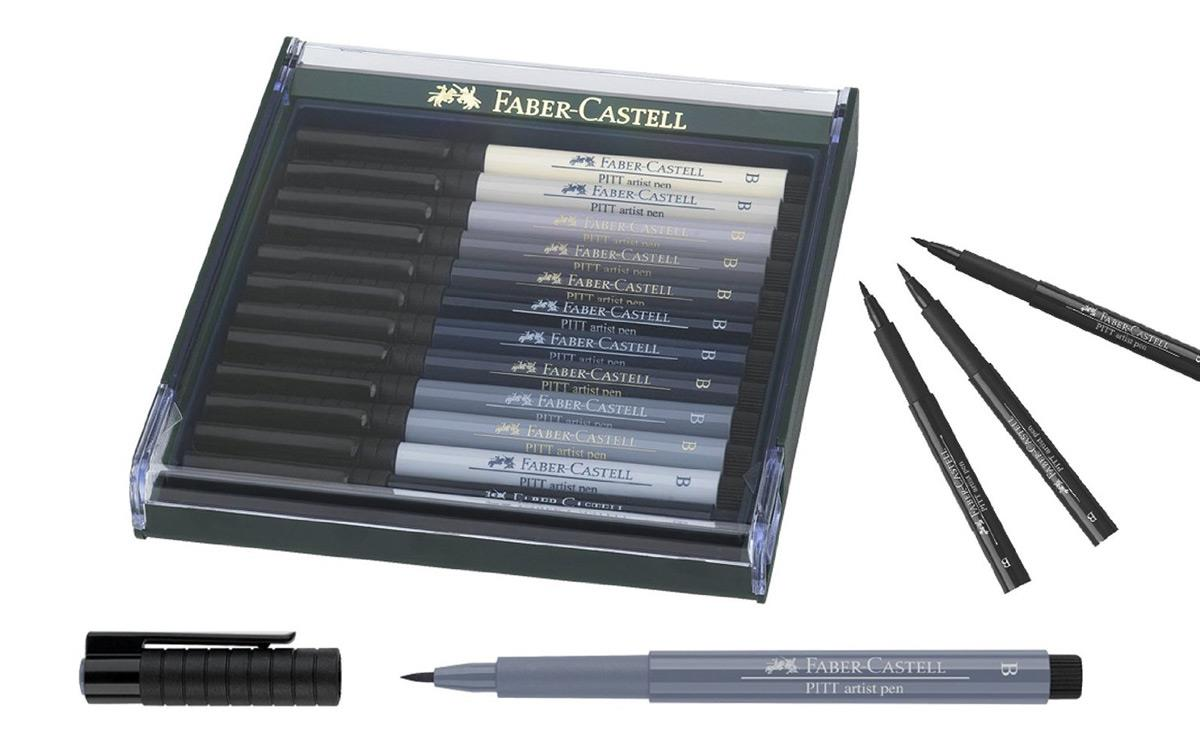 faber castell tuschestift pitt artist pen brush graut ne 12 teilig duo. Black Bedroom Furniture Sets. Home Design Ideas