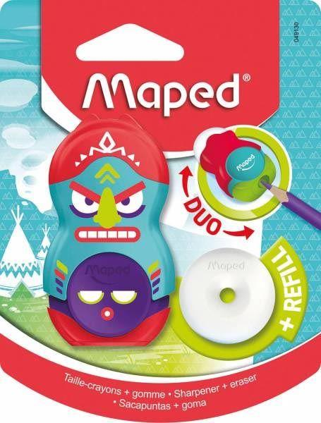 Maped Radierer Anspitzer 2in1 Loopy Totem