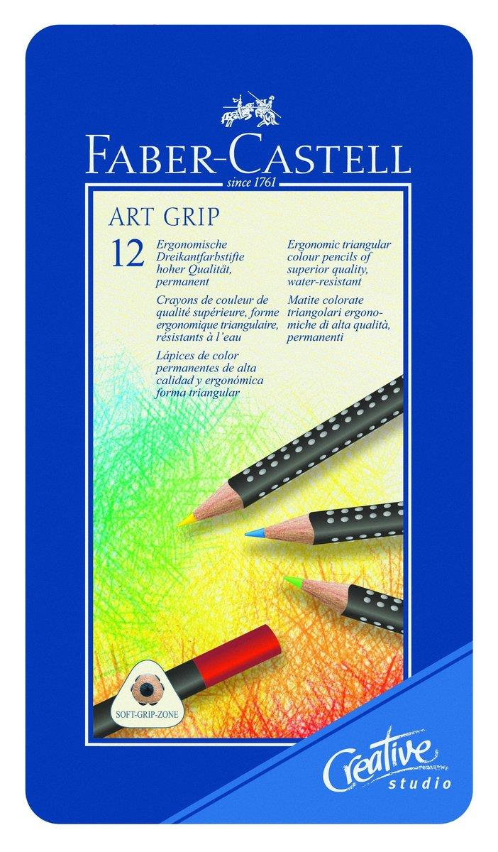 faber castell 114312 farbstift art grip 12er metalletui duo. Black Bedroom Furniture Sets. Home Design Ideas