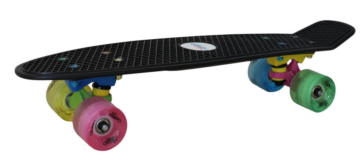 Authentic Sports Skateboard fun, No Rules NEON mit Leuchtrollen