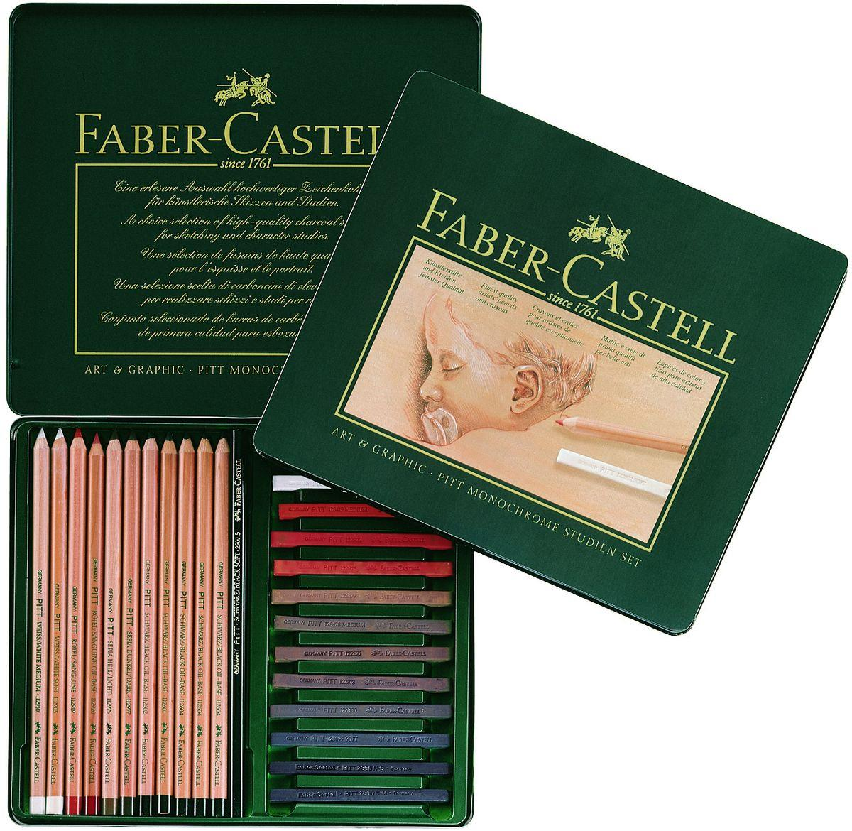 faber castell 112969 set pitt studien set 25er metalletui duo. Black Bedroom Furniture Sets. Home Design Ideas