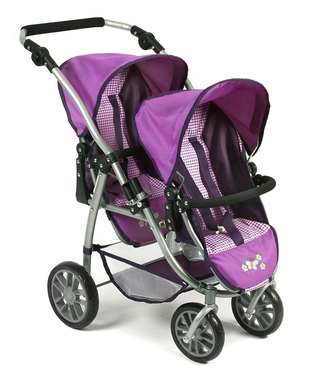 Bayer Chic Tandembuggy VARIO, Purple Checker