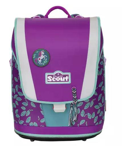 Scout Ultra Schulranzenset Lilac Leaves, 4-teilig