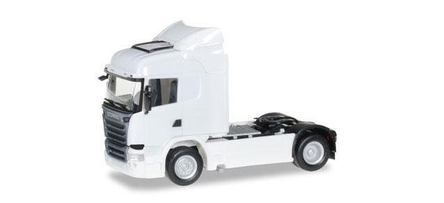 Herpa 302838-003 Scania R Streamline Highline Zugmaschine, weiß