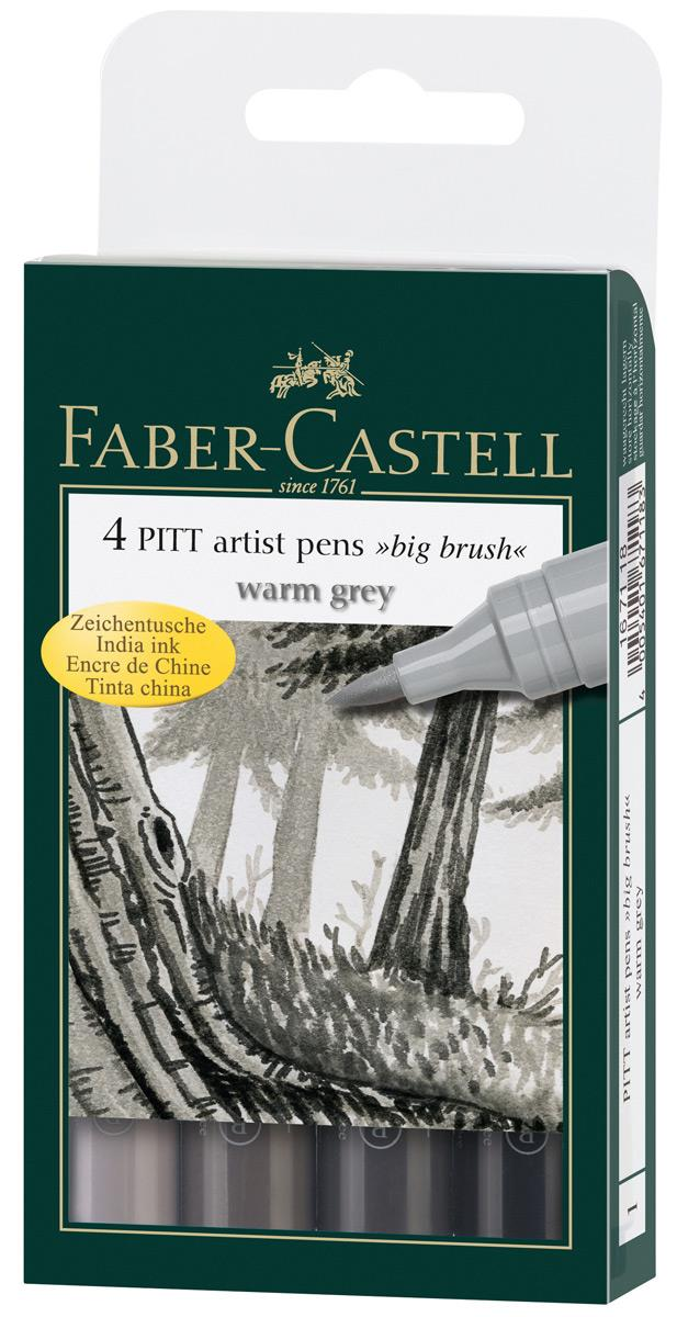 faber castell 167118 tuschestift pitt artist pen bb 4er etui duo. Black Bedroom Furniture Sets. Home Design Ideas