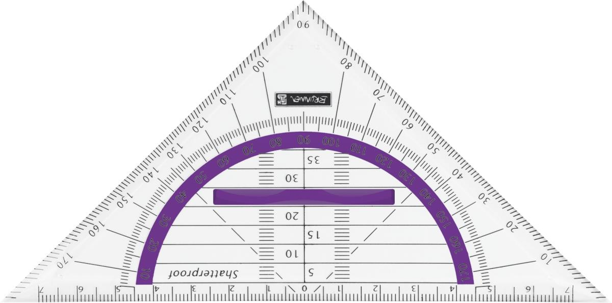 BRUNNEN Geometrie-Dreieck, bruchsicher Colour Code, purple, 16cm