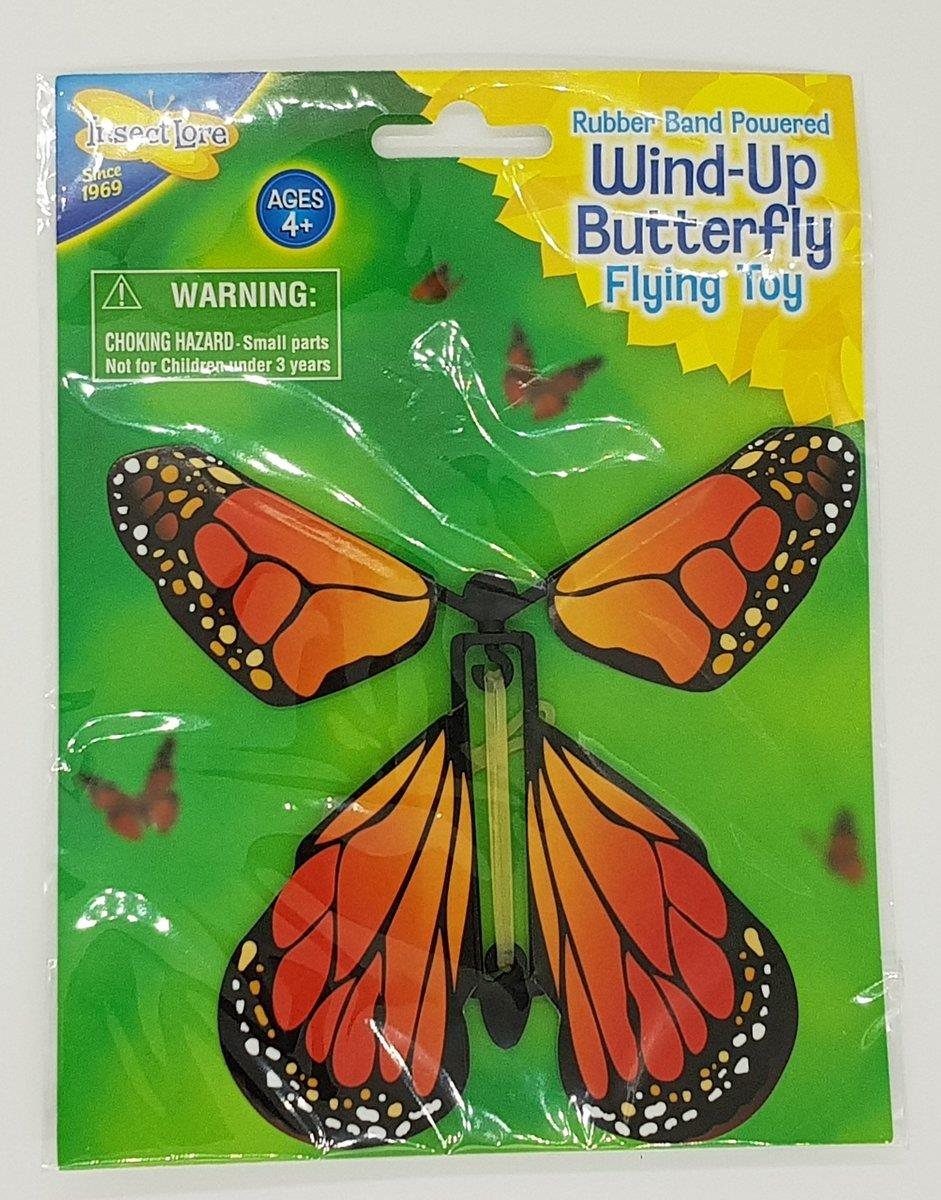 HCM Kinzel Wind-Up Butterfly, orange