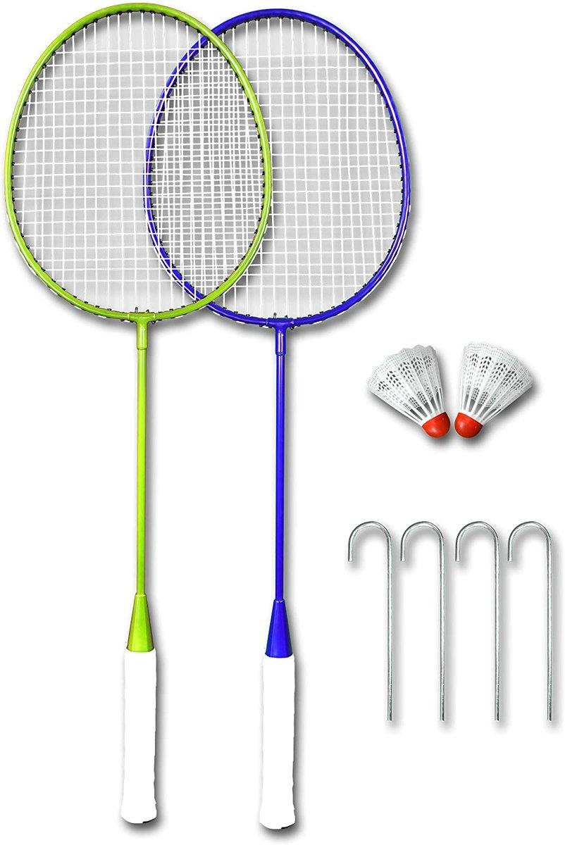 BEST Sporting 3 in 1 Badminton-Set, mobiles Volleyballnetz, Badmintonnetz und Tennisnetz