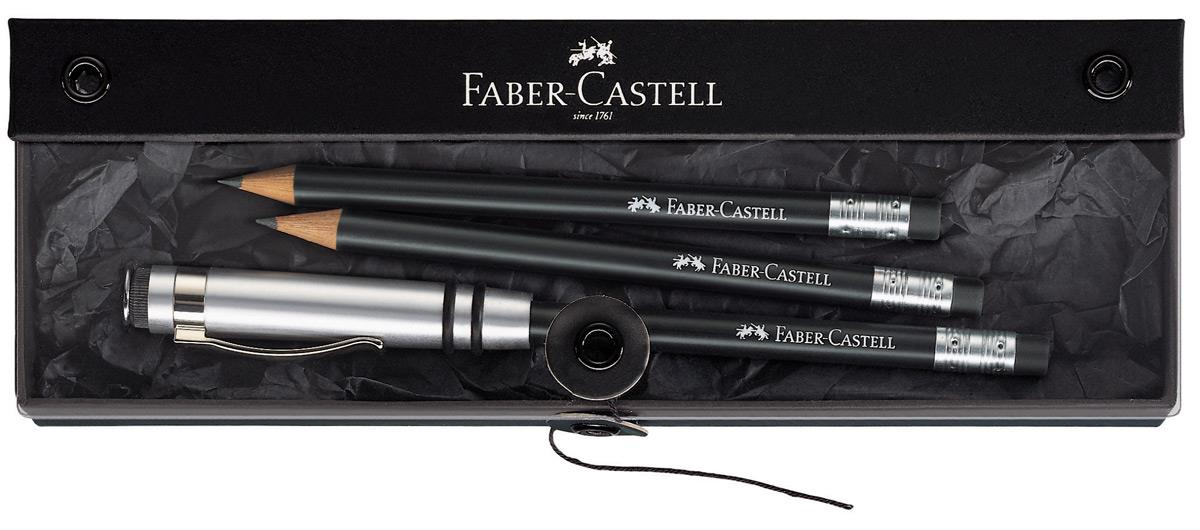 faber castell 118351 geschenkset perfekter bleistift design schwarz duo. Black Bedroom Furniture Sets. Home Design Ideas